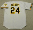 BARRY BONDS Pittsburgh Pirates 1992 Away Majestic Baseball Throwback Jersey - BACK