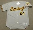 BARRY BONDS Pittsburgh Pirates 1992 Away Majestic Baseball Throwback Jersey - FRONT