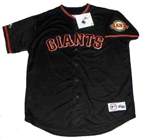 BARRY BONDS San Francisco Giants 2001 Majestic Baseball Throwback Jersey - FRONT