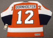 GARY DORNHOEFER Philadelphia Flyers 1974 CCM Vintage Throwback Hockey Jersey - Back