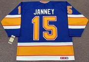 CRAIG JANNEY St. Louis Blues 1991 CCM Vintage Throwback NHL Hockey Jersey