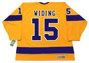 JUHA WIDING Los Angeles Kings 1970 CCM Vintage Throwback Home NHL Jersey