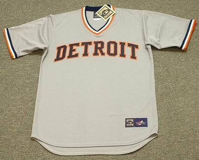 Al Kaline 1972 Detroit Tigers Majestic MLB Away Throwback Jersey - FRONT