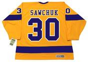 TERRY SAWCHUK Los Angeles Kings 1967 CCM Vintage Throwback Home NHL Jersey