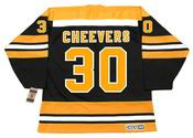GERRY CHEEVERS Boston Bruins 1975 CCM Vintage Throwback NHL Hockey Jersey