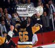 MARIO LEMIEUX Pittsburgh Penguins 1992 Away CCM NHL Vintage Throwback Jersey - ACTION