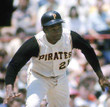 1966 Pittsburgh Pirates Home Majestic Baseball Throwback ROBERTO CLEMENTE Jersey - ACTION