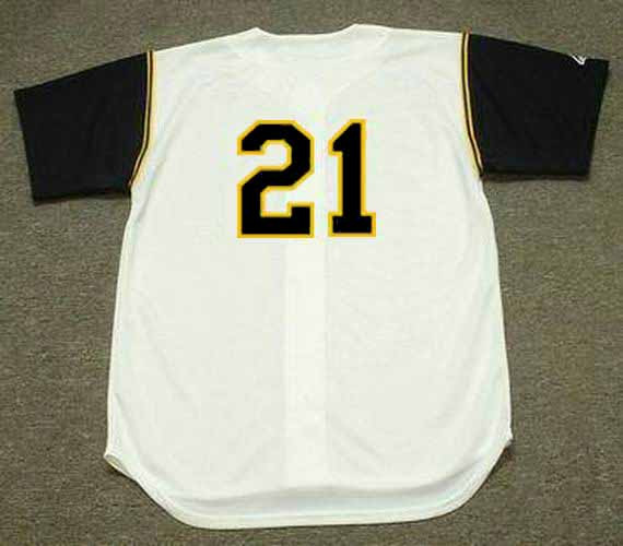 newest 98f53 6ff1c ROBERTO CLEMENTE Pittsburgh Pirates 1966 Home Majestic Baseball Throwback  Jersey