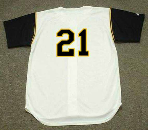 1966 Pittsburgh Pirates Home Majestic Baseball Throwback ROBERTO CLEMENTE Jersey - BACK