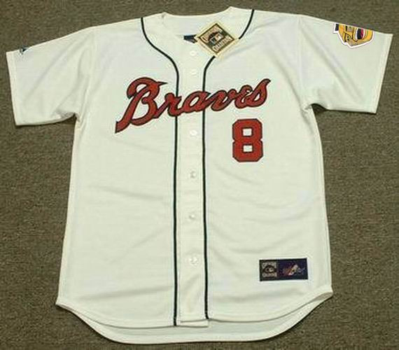 factory authentic 1986a 81e92 BOB UECKER Milwaukee Braves 1960's Home Majestic Throwback Baseball Jersey