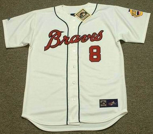 Bob Uecker 1960 Milwaukee Braves Cooperstown Retro Home MLB Throwback Baseball Jerseys - FRONT