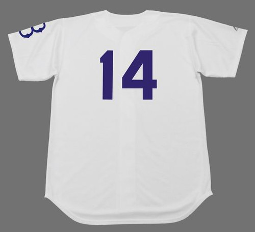 GIL HODGES Majestic Throwback Home Brooklyn Dodgers Uniform - BACK