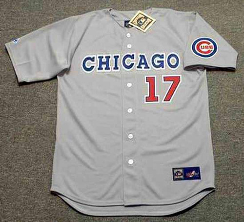 MARK GRACE Chicago Cubs 1990 Away Majestic Baseball Throwback Jersey - FRONT