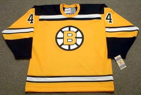 BOBBY ORR 1966 Home CCM NHL Throwback Boston Bruins Jerseys - FRONT