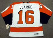 BOBBY CLARKE Philadelphia Flyers 1974 CCM Vintage Throwback Home NHL Jersey - Back