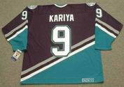 PAUL KARIYA Anaheim Mighty Ducks 2003 Away CCM NHL Vintage Throwback Jersey - BACK