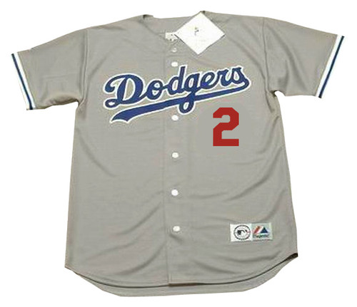 TOMMY LASORDA Los Angeles Dodgers 1981 Away Majestic Baseball Throwback Jersey - Front