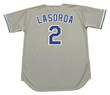 TOMMY LASORDA Los Angeles Dodgers 1981 Majestic Throwback Away Baseball Jersey - Back