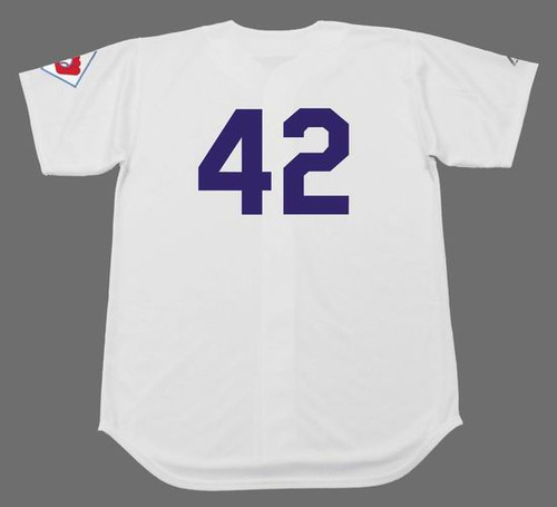 JACKIE ROBINSON Brooklyn Dodgers 1951 Home Majestic Baseball Throwback Jersey - BACK