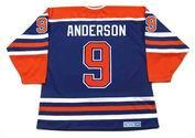 GLENN ANDERSON Edmonton Oilers 1987 Away CCM NHL Vintage Throwback Jersey