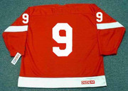 GORDIE HOWE Detroit Red Wings 1962 Home CCM Throwback NHL Hockey Jersey - BACK