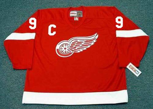 GORDIE HOWE Detroit Red Wings 1962 Home CCM Throwback NHL Hockey Jersey - FRONT