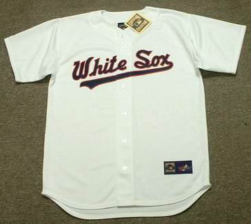 sale retailer e454a 9eee7 CARLTON FISK Chicago White Sox 1989 Majestic Cooperstown Home Jersey