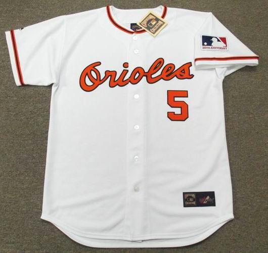 BROOKS ROBINSON Baltimore Orioles 1969 Home Majestic Baseball Throwback Jersey