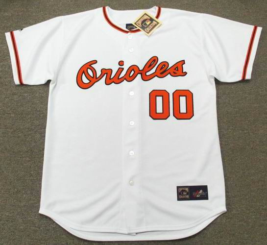 free shipping 2f119 be620 BALTIMORE ORIOLES 1966 Home Majestic Throwback Jersey Customized