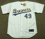 TEDDY HIGUERA Milwaukee Brewers 1990 Majestic Cooperstown Home Jersey