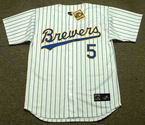 BJ Surhoff 1990 Milwaukee Brewers Cooperstown Home MLB Throwback Baseball Jerseys - FRONT