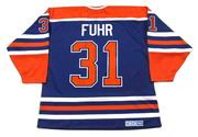 GRANT FUHR Edmonton Oilers 1987 CCM Vintage Throwback Away NHL Hockey Jersey