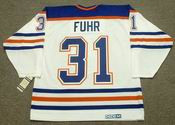 GRANT FUHR Edmonton Oilers 1987 CCM Vintage Throwback Home NHL Jersey