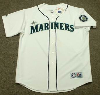 buy online 400bb 703a3 MIKE BLOWERS Seattle Mariners 1995 Majestic Throwback Home Baseball Jersey