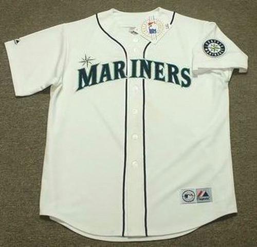 DAN WILSON Seattle Mariners 1997 Home Majestic Baseball Throwback Jersey - FRONT