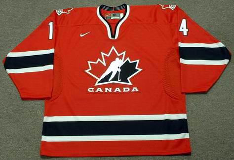BRENDAN SHANAHAN 2002 Team Canada Nike Olympic Throwback Hockey Jersey - FRONT