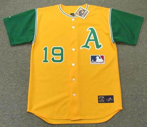 best service 617e3 d47ea BERT CAMPANERIS Oakland Athletics 1969 Majestic Baseball Throwback Jersey