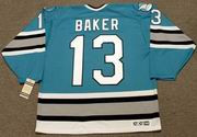 JAMIE BAKER San Jose Sharks 1995 CCM Vintage Throwback NHL Hockey Jersey