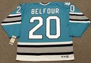 ED BELFOUR San Jose Sharks 1997 CCM Vintage Throwback NHL Hockey Jersey