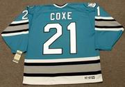 CRAIG COXE San Jose Sharks 1992 CCM Vintage Throwback NHL Hockey Jersey
