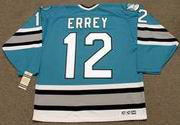 BOB ERREY San Jose Sharks 1993 CCM Vintage Throwback NHL Hockey Jersey