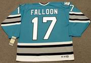 PAT FALLOON San Jose Sharks 1993 CCM Vintage Throwback NHL Hockey Jersey