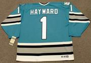 BRIAN HAYWARD San Jose Sharks 1992 CCM Vintage Throwback NHL Hockey Jersey - BACK