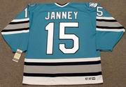 CRAIG JANNEY San Jose Sharks 1995 CCM Vintage Throwback NHL Hockey Jersey