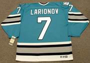 IGOR LARIONOV San Jose Sharks 1995 CCM Vintage Throwback NHL Hockey Jersey