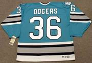 JEFF ODGERS San Jose Sharks 1995 CCM Vintage Throwback NHL Hockey Jersey