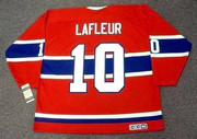 GUY LAFLEUR Montreal Canadiens 1973 Away CCM Throwback NHL Hockey Jersey - BACK