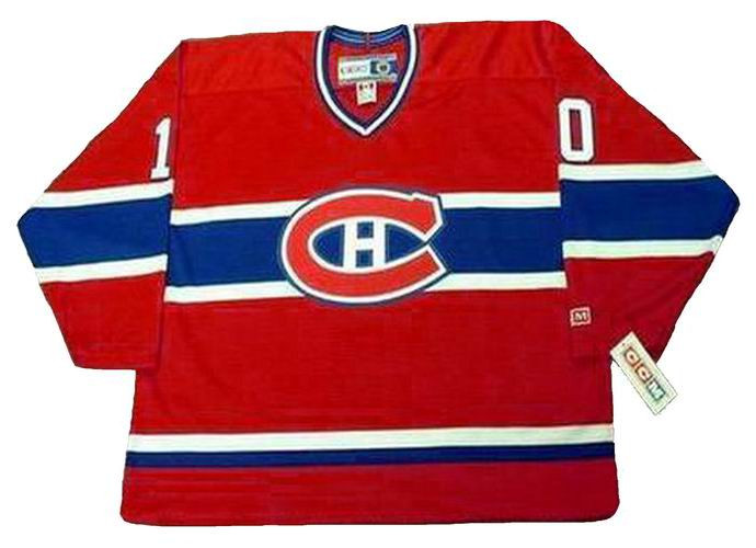 new product fe013 bed3c GUY LAFLEUR Montreal Canadiens 1983 CCM Throwback Away NHL Jersey