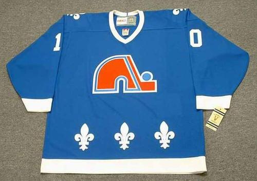 GUY LAFLEUR Quebec Nordiques 1990 Away CCM Vintage Throwback Hockey Jersey - FRONT