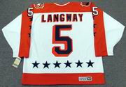 "ROD LANGWAY 1986 Wales ""All Star"" CCM Vintage Throwback NHL Hockey Jersey"